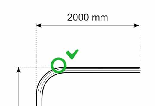kolejnice na závěsy a záclony ohyb