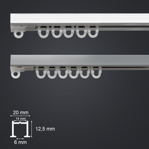 kovová záclonová garnýž DIX