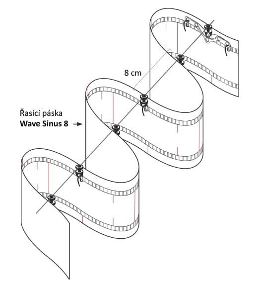 šňůrové jezdce 8 cm